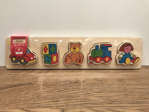 BigJigs: Chunky 5 Piece Puzzle (Teddy)