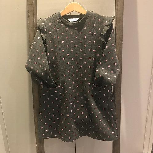 Mayoral 4938: grey jersey spot girls dress