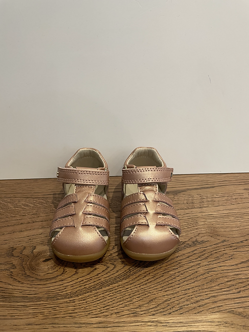 Bobux: Step Up Closed Toe Sandal - Rose Gold