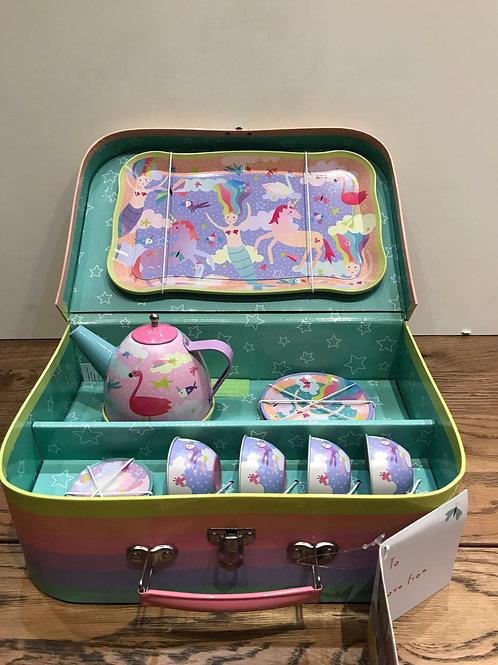 Floss & Rock: musical 15 piece tin tea set
