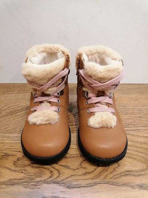 Clarks: Dabl Hiker Tan Leather Boot