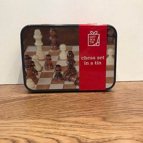 Apples to Pears: Wooden Chess set in a Tin