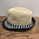Thumbnail: Mayoral: Beige Straw Hat with Navy/Green Stripe Band