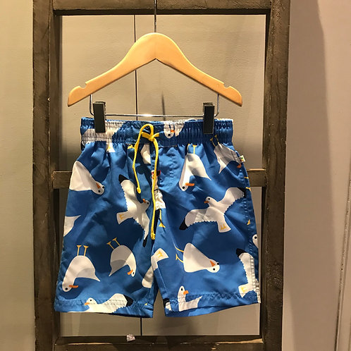 Frugi: Seagull Swim Shorts, Blue
