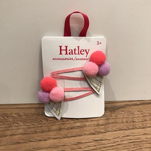 Hatley: Hair Clips x2 (Ice Cream)