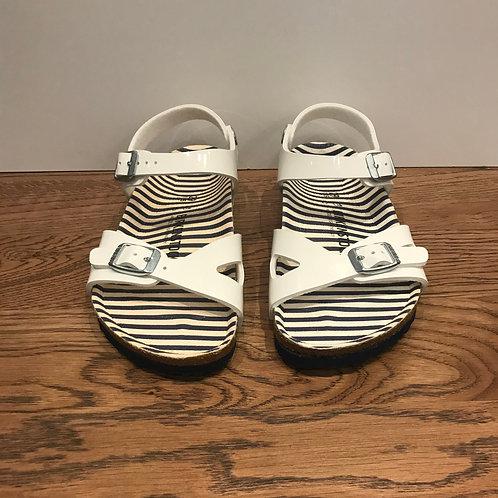 Birkenstock: Rio Kids Nautrical Stripe (White)