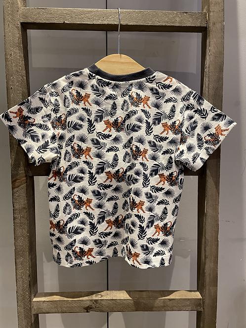 Sense Organics: Jungle T-Shirt - Navy/White
