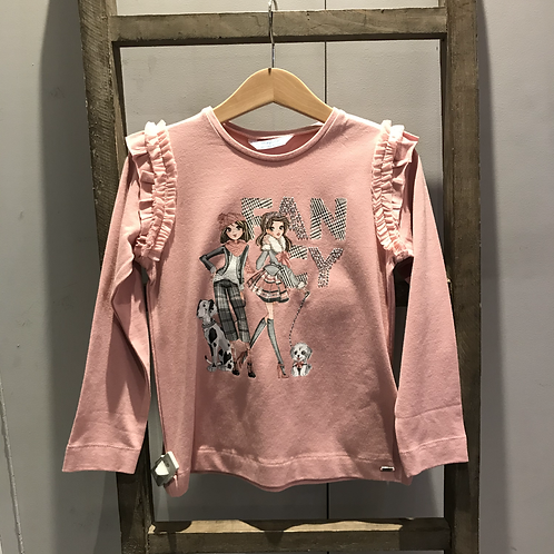 Mayoral: Long sleeve top (Dusty Pink)
