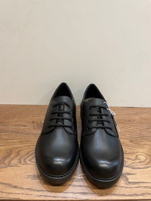 Geox: J Casey - Black Leather Lace Up J0420C