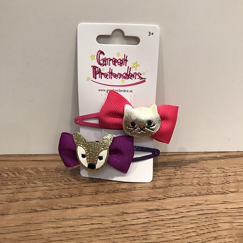 Great Pretenders: 88050 - Hair Clips x2 (Pink/Purple)