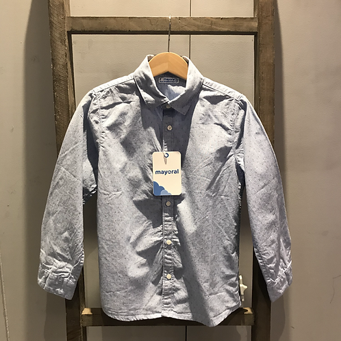 Mayoral: Oxford Long Sleeve Shirt (Blue)