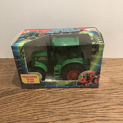 Pocket Money: Friction Power Farm Tractor Green