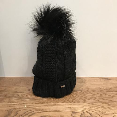 Mayoral: 10706 Pom Pom Hat - Black