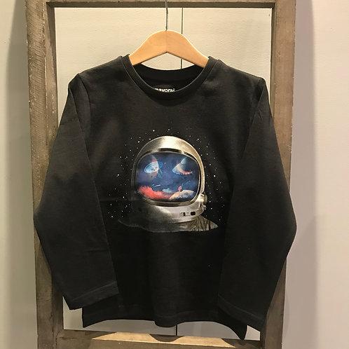 Mayoral: 4089 Astronaut Black Long Sleeve Top