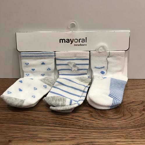 Mayoral: 9015 3 Pack - Mid Blue
