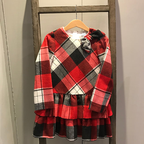 Mayoral: 4914 Red Plaid Dress