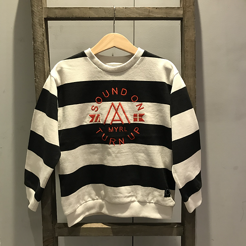 Mayoral: Navy Stripe Sweatshirt