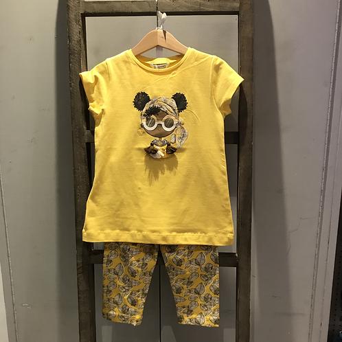 Mayoral: 3741 - Yellow 2 Piece Set
