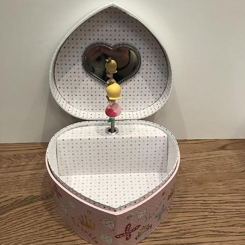 Floss & Rock: Musical Jewellery Box (Heart-shaped)