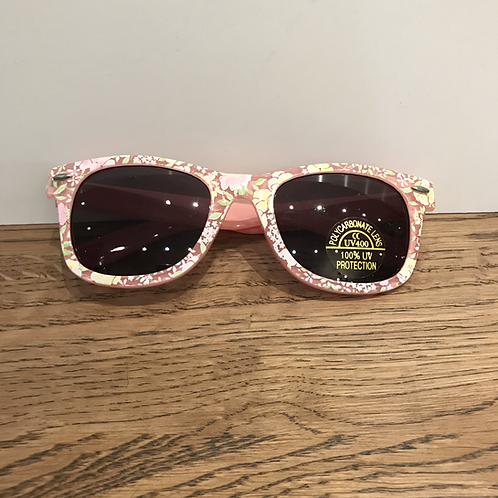 Lollipop: White Floral -Baby Sunglasses
