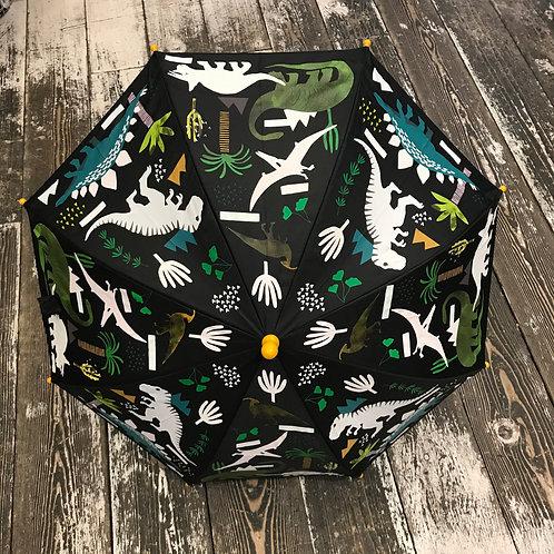 Floss & Rock: Dinosaur - Black Colour Changing Umbrella