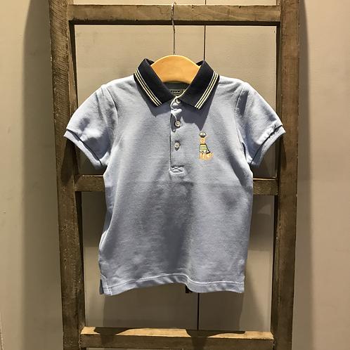 Mayoral: Polo Shirt Dog Motif (Blue)