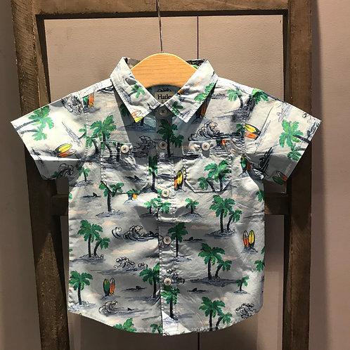 Hatley: Hawaiian Tropics - Blue Shirt
