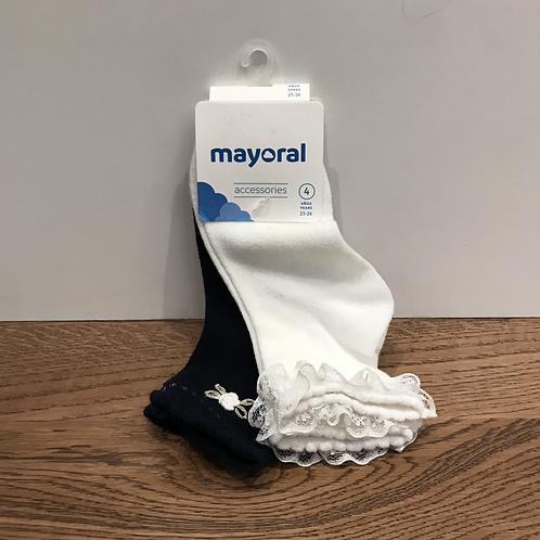Mayoral: Navy/White Socks