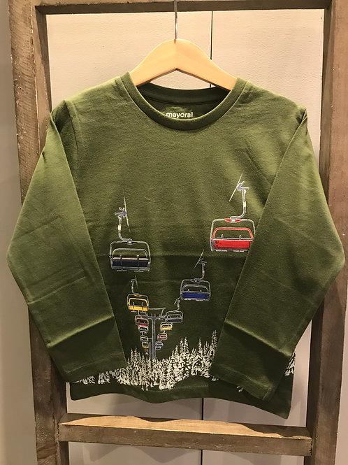 Mayoral: 4077 Green Glow i the dark Long Sleeve Top