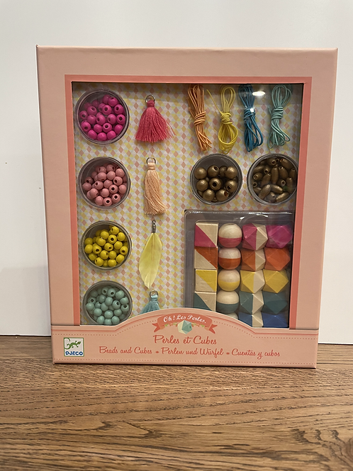 DJECO: Beads and Cubes Kit