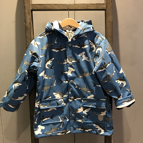Hatley: Deep-Sea Sharks Raincoat