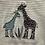 Thumbnail: Sense Organics: Giraffe Baby Grow - Teal