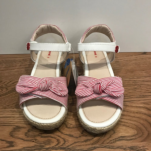 Mayoral: Red/White Stripe  Open Toe Sandals