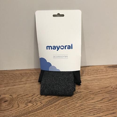 Mayoral: 10861 - Black Glitter Lurex