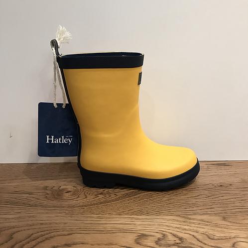 Hatley: Matte Rain Boots - Yellow/Navy