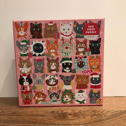 Festive Cat Puzzle - 500 Piece
