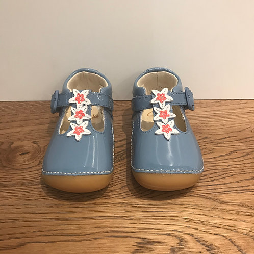 Clarks: Tiny Flower - Mid Blue First Walker