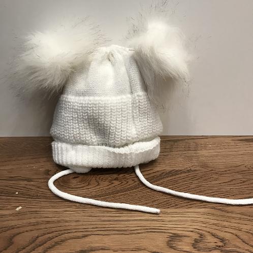 Pesci: 61952 Double Bobble Hat - Cream