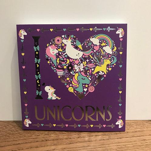 I Love Unicorns - Colouring in Book