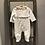Thumbnail: Mayoral: Beige Heart Print Baby Grow