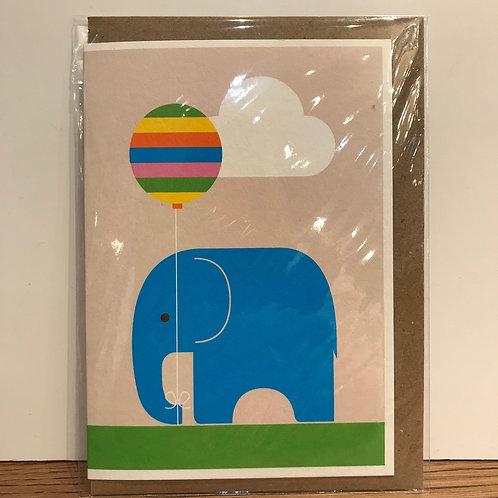 Card: Elephant with Balloon
