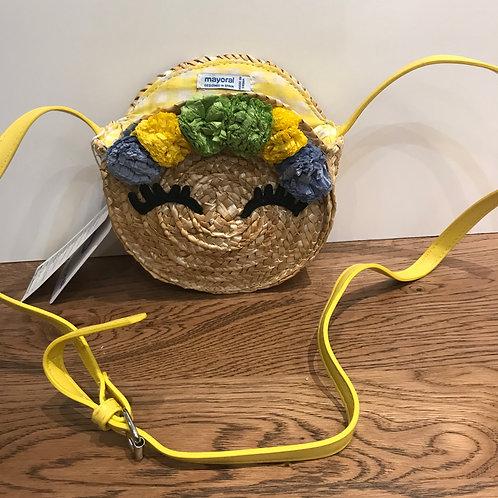 Mayoral: Pom Poms - Yellow Gingham Bag