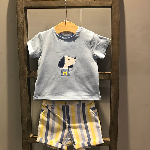Mayoral: Stripes - Blue Shorts Set