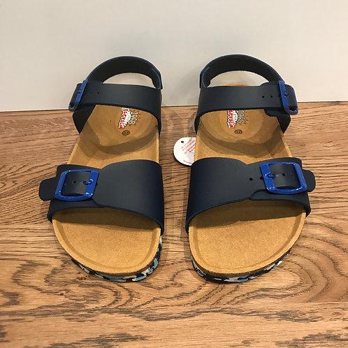 Garvalin: Navy - Open Toe Buckle Sandals