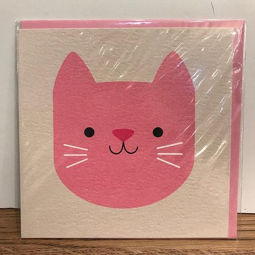 Card: Pink Cat