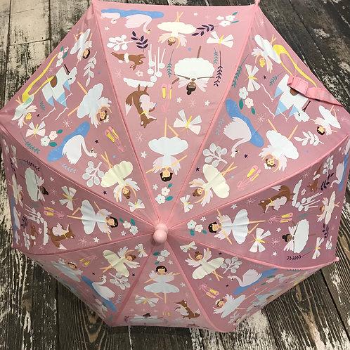 Floss & Rock: Swan - Pink Colour Changing Umbrella