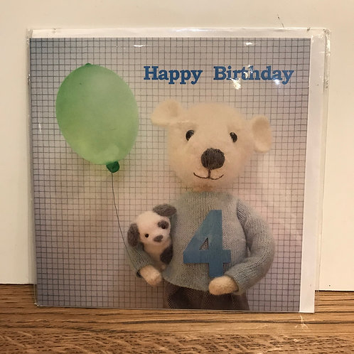 Card: Birthday (Age 4)