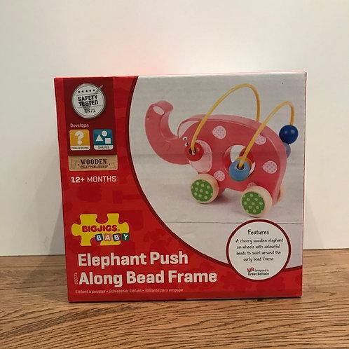 BigJigs: Elephant Push Along Bead Frame