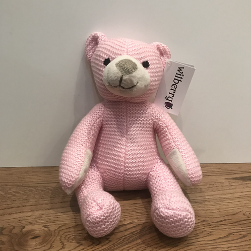 Wilberry: Pink Knitted Bear