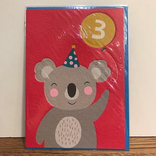 Card: Birthday (Age 3)